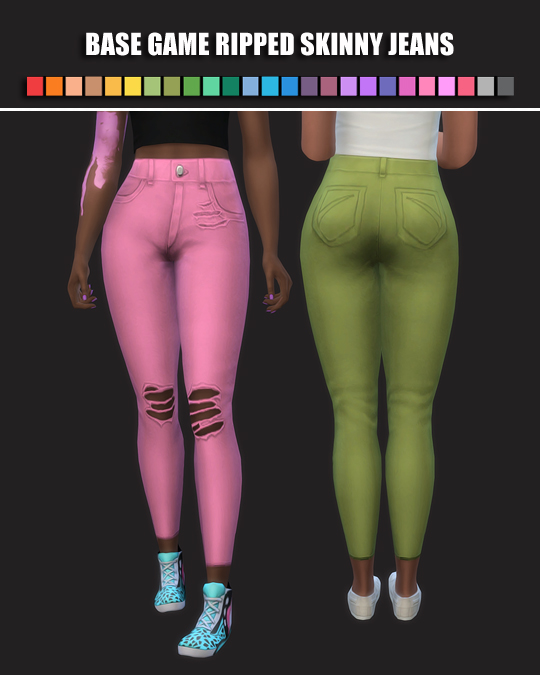 Ripped Skinny Jeans by maimouth at SimsWorkshop image 981 Sims 4 Updates