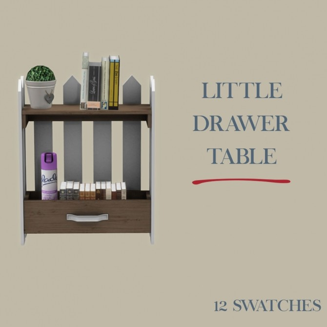 Sims 4 Little Drawer Table at Leo Sims