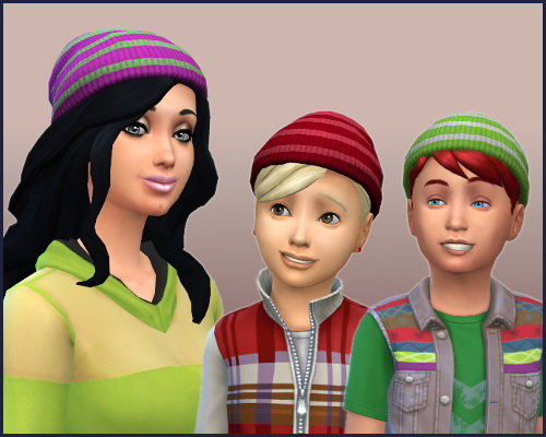 Set RC hat with stripes at CappusSims4You image 99 Sims 4 Updates