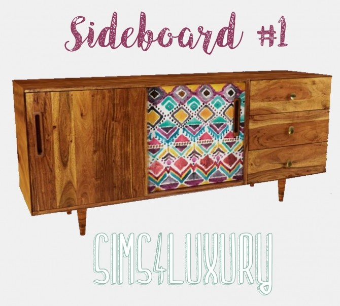 Sideboard #1 at Sims4 Luxury image 999 670x604 Sims 4 Updates