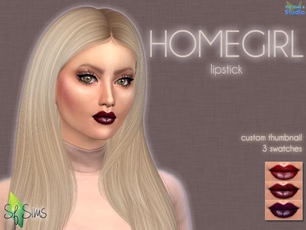 Sims 4 HOMEGIRL Lipstick by SF Sims at TSR