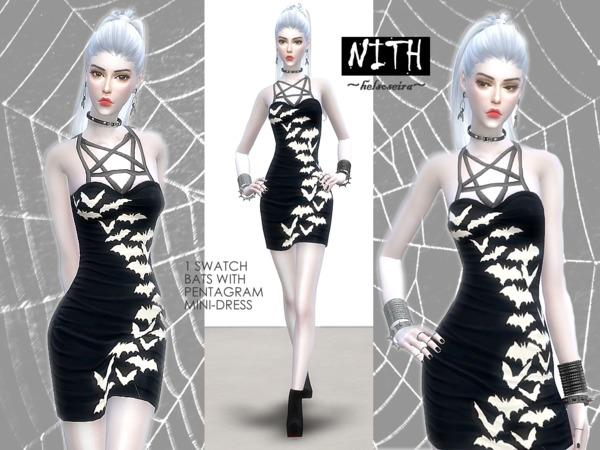 Sims 4 NITH Minidress by Helsoseira at TSR