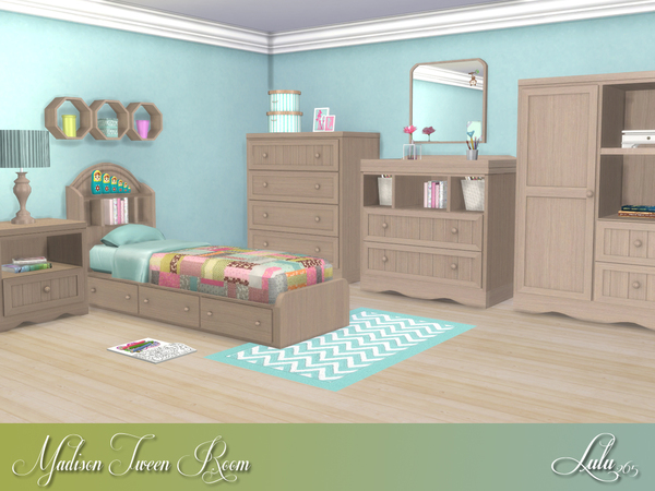 Madison Tween Bedroom by Lulu265 at TSR image 1030 Sims 4 Updates