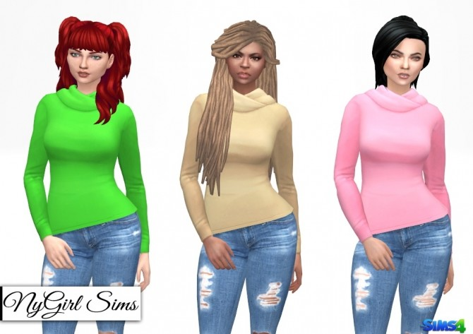 Hooded Long Sleeve Tee at NyGirl Sims image 10314 670x473 Sims 4 Updates