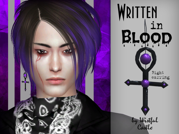 Written in Blood Earrings Set by WistfulCastle at TSR image 10315 Sims 4 Updates