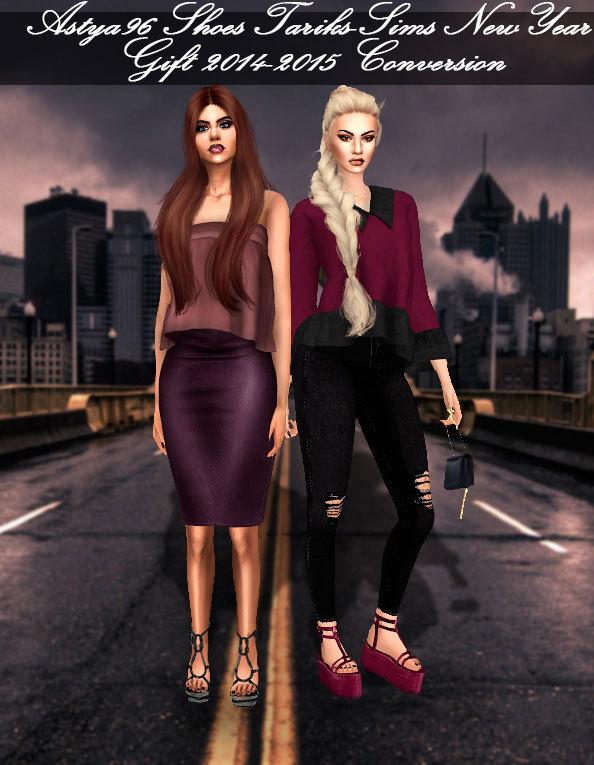 Sims 4 Tariks Sims Shoes Conversion at Astya96