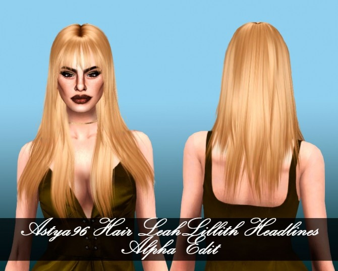 LeahLillith Hair Headlines Alpha Edit at Astya96 image 1038 670x538 Sims 4 Updates