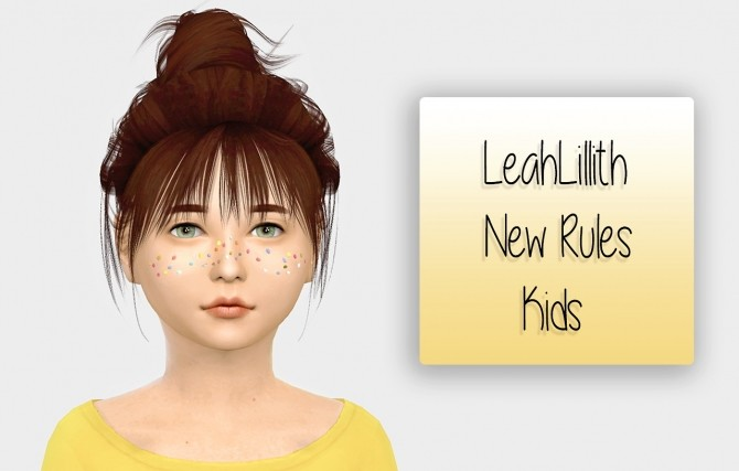 Sims 4 LeahLillith New Rules hair for kids at Simiracle