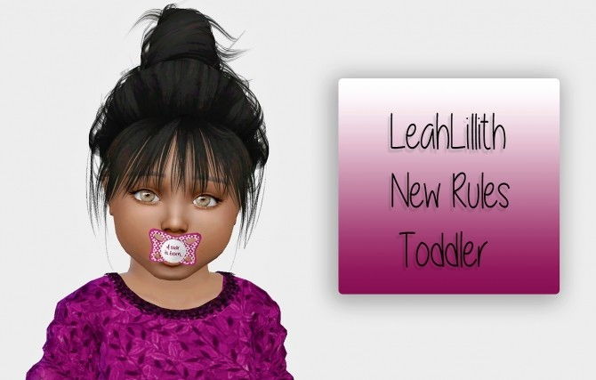 Sims 4 LeahLillith New Rules hair for toddlers at Simiracle