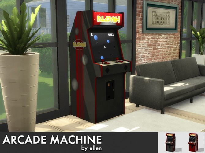 Sims 4 Arcade machine at Simobjects by Ellen