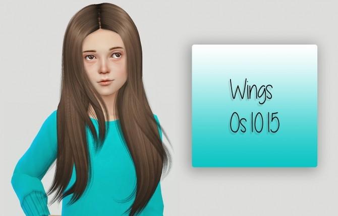 Sims 4 Wings Os1015 hair Kids Version at Simiracle
