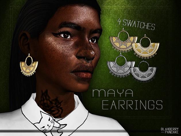 Sims 4 Maya Earrings at Blahberry Pancake