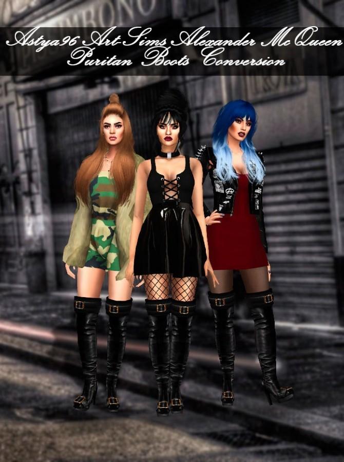 Art Sims Puritan Boots Conversion at Astya96 image 1077 670x899 Sims 4 Updates