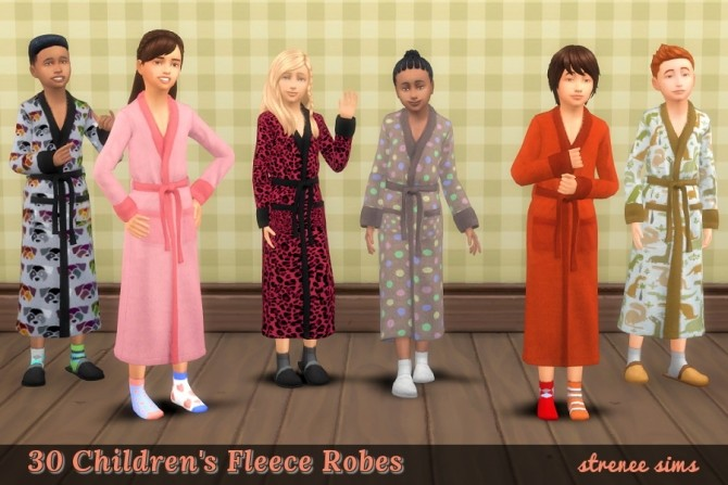 Sims 4 Family Robes: 30 for the Kids at Strenee Sims