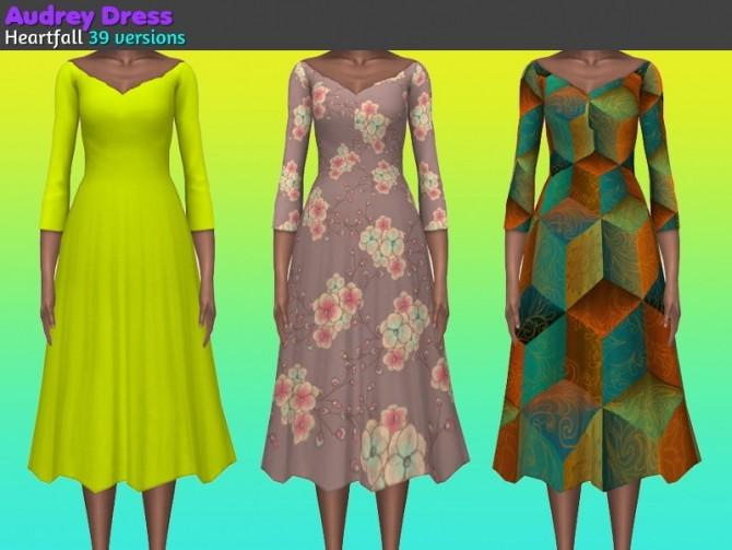 Sims 4 Crows Nest, Tatiara Wedding + Audrey Dresses at Heartfall