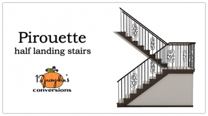 Pirouette Stairs at 13pumpkin31 image 1086 670x374 Sims 4 Updates