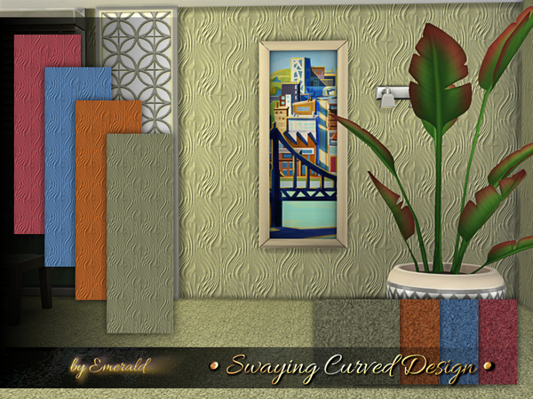 Swaying Curved Design by emerald at TSR image 1090 Sims 4 Updates