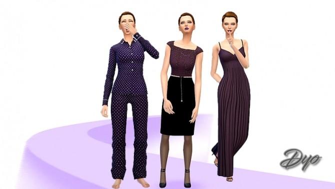 Sims 4 Purple fashion 1 by Dyokabb at Les Sims4