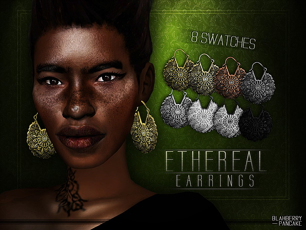Sims 4 Ethereal Earrings at Blahberry Pancake