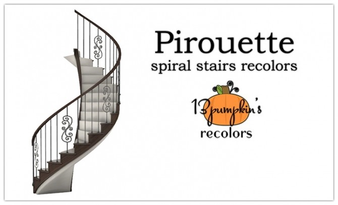Pirouette Stairs at 13pumpkin31 image 1096 670x406 Sims 4 Updates