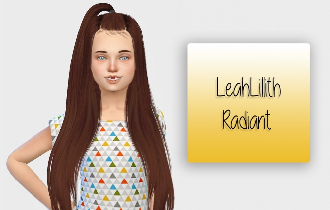 Leahlillith Radiant Hair Kids Version At Simiracle 187 Sims
