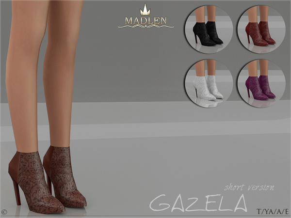 Sims 4 Madlen Gazela Boots Short by MJ95 at TSR
