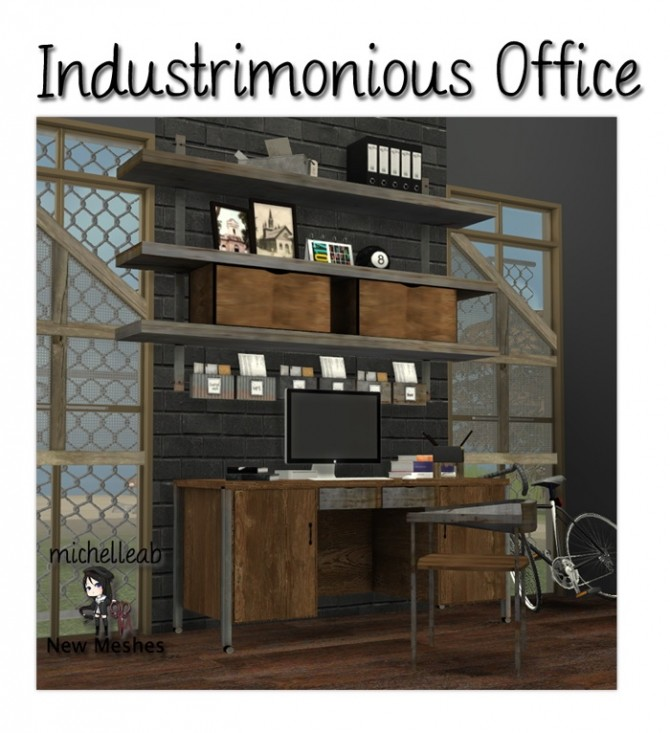Industrimonius office at Michelleab Stuff image 11010 670x733 Sims 4 Updates