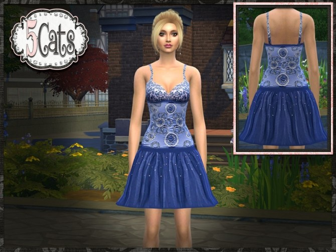 Sequin Tulle Low Waist Short Prom Dress at 5Cats image 1104 670x503 Sims 4 Updates