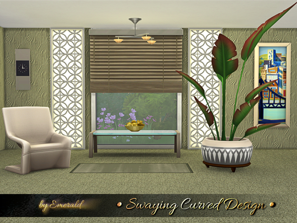 Swaying Curved Design by emerald at TSR image 11100 Sims 4 Updates