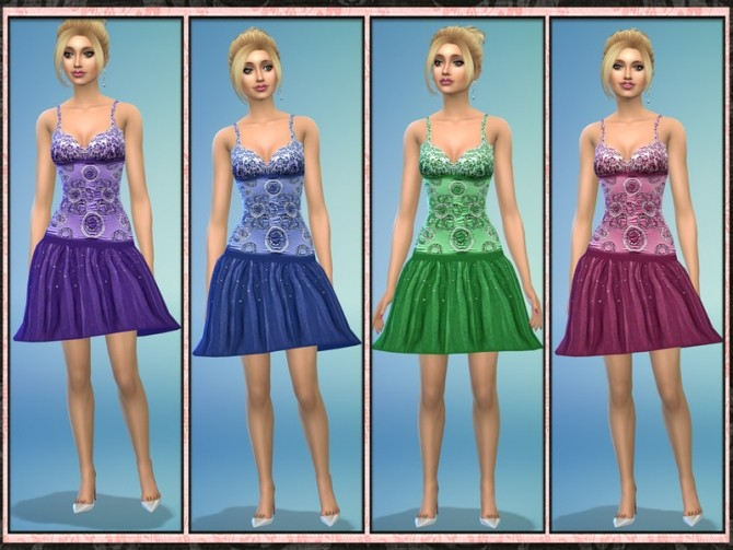 Sequin Tulle Low Waist Short Prom Dress at 5Cats image 1115 670x503 Sims 4 Updates