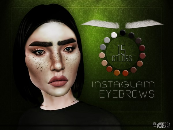InstaGlam Eyebrows by Blahberry Pancake at TSR image 1118 Sims 4 Updates