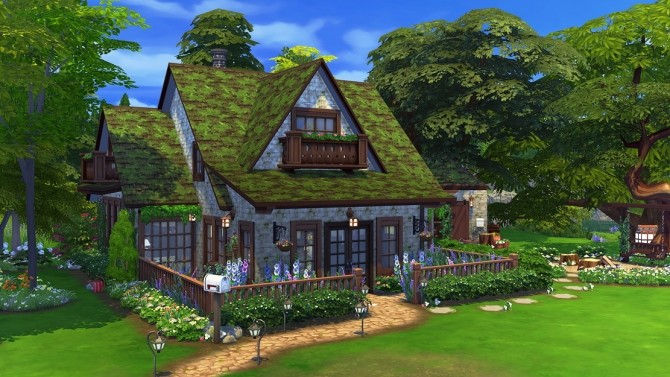 Sims 4 Morning Forest Cottage at Savara's Pixels