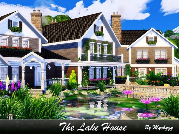 The Lake House by MychQQQ at TSR image 11316 Sims 4 Updates