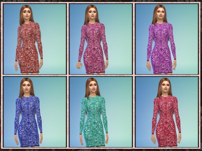 Sims 4 Designer Short Sequin Cocktail Dress at 5Cats