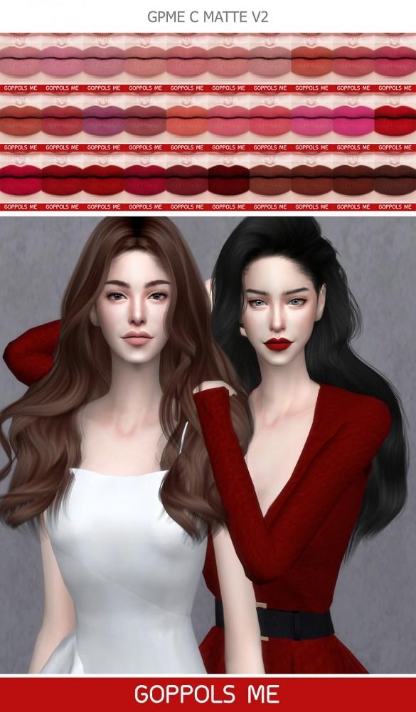 GPME C Matte V2 lipstick at GOPPOLS Me image 1151 585x1000 Sims 4 Updates