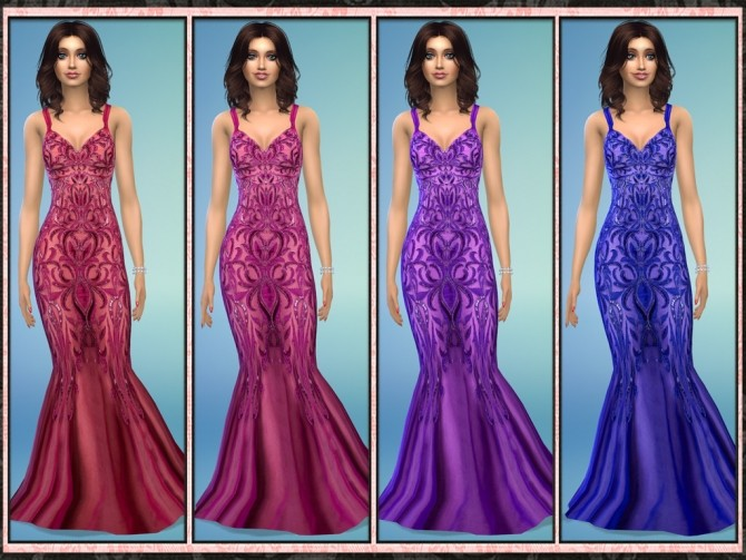 Sequin Embellished Slinky Mermaid Gown at 5Cats image 1152 670x503 Sims 4 Updates