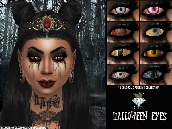 Sims 4 Halloween Eyes by MadameChvlr at TSR