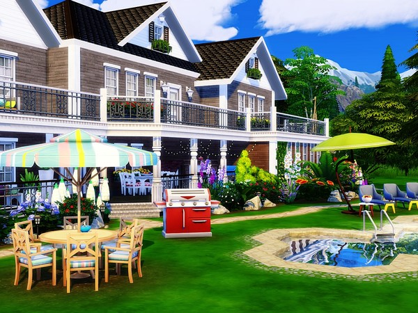 The Lake House by MychQQQ at TSR image 11613 Sims 4 Updates