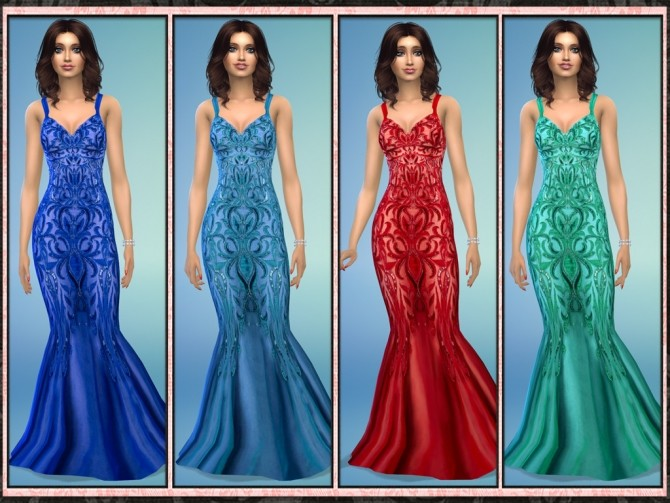 Sequin Embellished Slinky Mermaid Gown at 5Cats image 1162 670x503 Sims 4 Updates