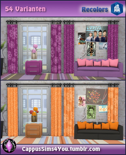 Harmonie City curtains at CappusSims4You image 1184 Sims 4 Updates