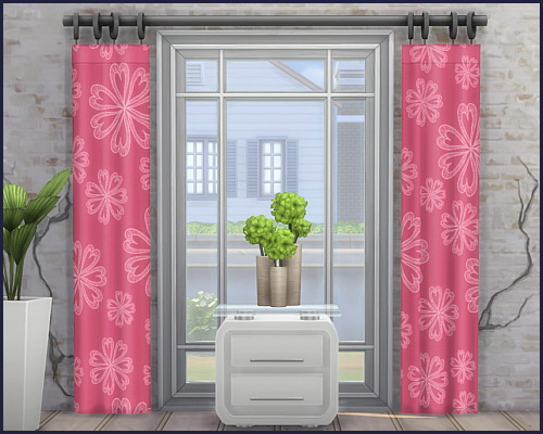 Harmonie City curtains at CappusSims4You image 1202 Sims 4 Updates