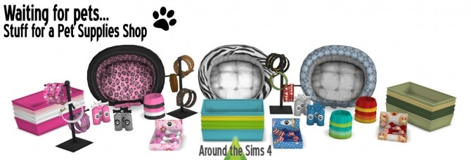 Pet supplies shop by Sandy at Around the Sims 4 image 1207 670x228 Sims 4 Updates