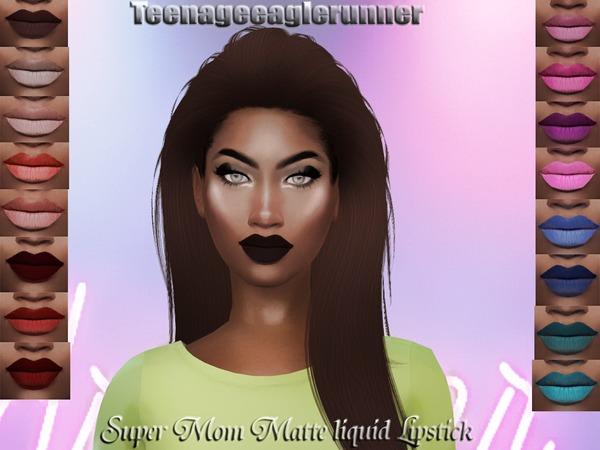 Sims 4 Super Mom liquid Matte Lipstick by Teenageeaglerunner at TSR