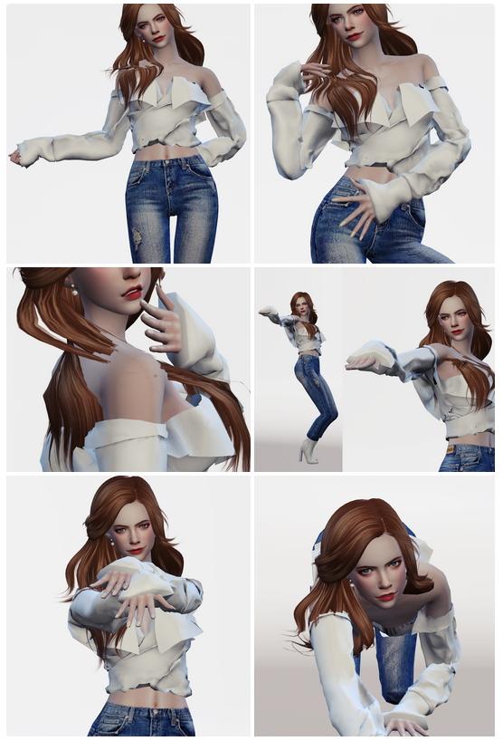 Sims 4 Hyuna Babe Dance Poses Set at Flower Chamber