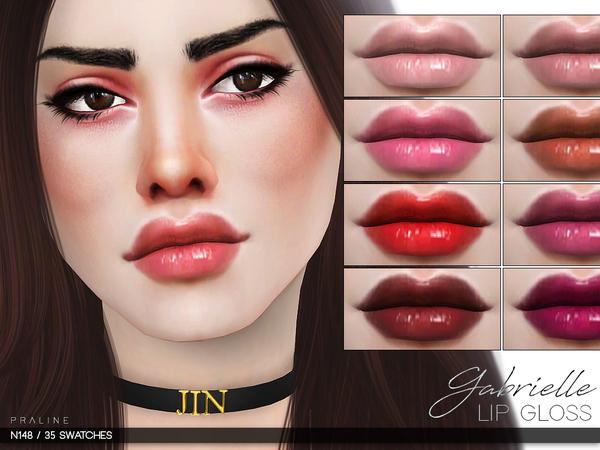 Sims 4 Gabrielle Lip Gloss N148 by Pralinesims at TSR