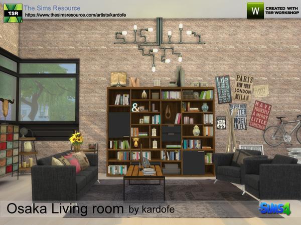 Sims 4 Osaka Living room by kardofe at TSR