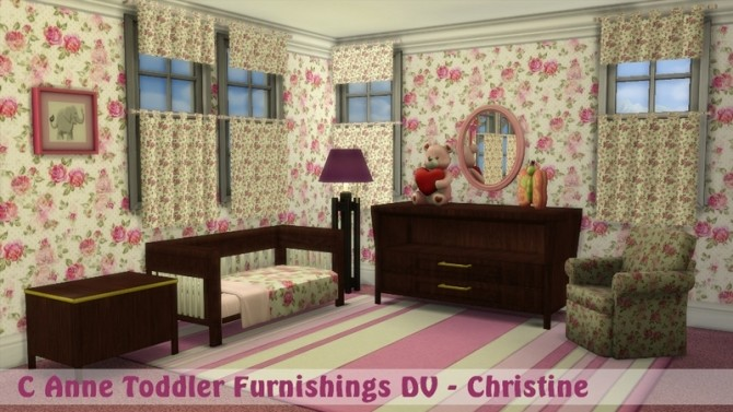 Sims 4 C Anne toddler bedroom set DV by Christine at CC4Sims
