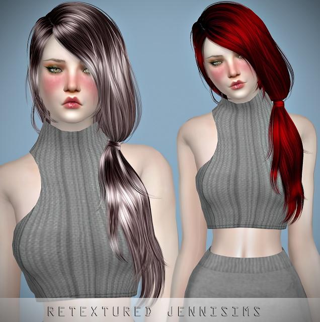 Sims 4 Newsea TellMe Hair retexture at Jenni Sims