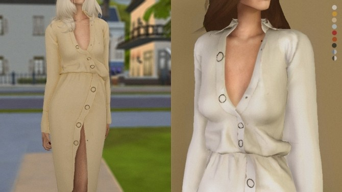 Sims 4 Pre Fall Shirt Dress at Volatile Sims