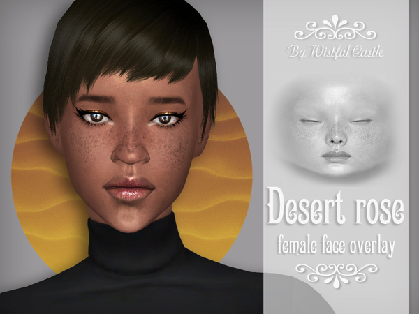 Desert Rose face overlay by WistfulCastle at TSR image 1250 Sims 4 Updates